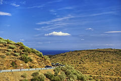 Serpentine road in Provence mountains Stock Images