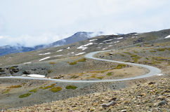 Serpentine road in the spring Sierra Nevada Stock Image
