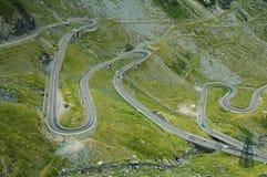 Serpentine route stock photo