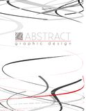 serpentine Schablone mit den Schwarz-, Roten und Grauendünnen Streifen Lizenzfreies Stockfoto
