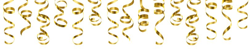 Serpentine streamers border Royalty Free Stock Images