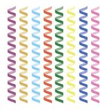 Serpentine streamers objects Stock Photography