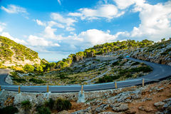 Serpentine to Cap Formentor, Mallorca Royalty Free Stock Images