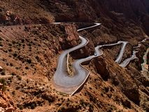Serpentines in Dades Valley Stock Images