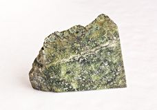 Serpentinite on white. Ural's stone -  serpentinite on white Stock Images