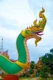 Serpentkoning of koning van nagastandbeeld Stock Foto