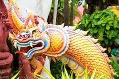 Serpentkoning of koning van nagastandbeeld Stock Afbeelding