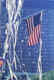 Serpentyny taśmy parada Honoruje weteranów wojna zatokowa, Niski Broadway, Miasto Nowy Jork Zdjęcia Royalty Free