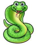 Serpiente amistosa de la cobra de la historieta Fotografía de archivo libre de regalías