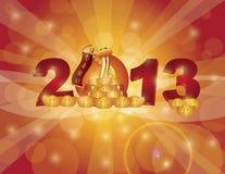 Serpiente china Bokeh del Año Nuevo 2013 stock de ilustración