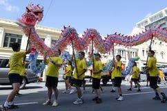 Serpiente china del Año Nuevo de Wellington Imagenes de archivo