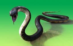 serpiente de la cobra real 3d Imagen de archivo libre de regalías