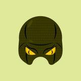 Serpiente de la máscara del super héroe Máscara protectora del reptil para la persona Vector Imágenes de archivo libres de regalías