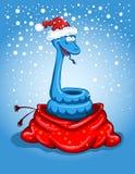 Serpiente de la Navidad Fotos de archivo