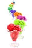 Serpiente de los conos de helado del color Fotos de archivo libres de regalías