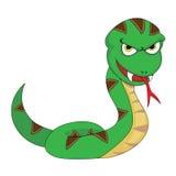 Serpiente de mirada que amenaza linda libre illustration
