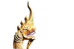 Serpiente de rey o estatua del dragón Foto de archivo