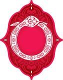 Serpiente del elemento chino del gráfico del Año Nuevo stock de ilustración