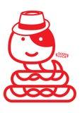 Serpiente del sombrero de Panamá Foto de archivo libre de regalías