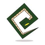 Serpiente en un diseño blanco del logotipo Imagenes de archivo