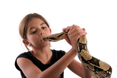 Serpiente-Encantador del niño Imagen de archivo