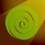 Serpiente espiral del vector stock de ilustración