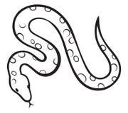 Serpiente negra ilustración del vector