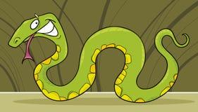Serpiente verde ilustración del vector