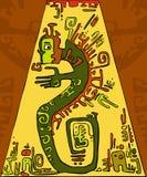 Serpiente verde del fondo abstracto Foto de archivo libre de regalías