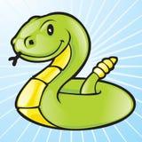 Serpiente verde del vector Fotografía de archivo