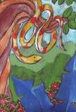 Serpiente y flores libre illustration