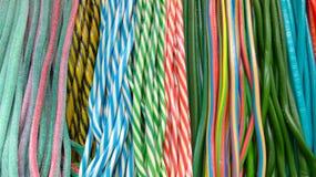Serpientes coloridas de la jalea de fruta Foto de archivo libre de regalías