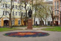SERPUKHOV 03 05 2015 - Monument till den Svyatoslav prinsen i Serpukh Royaltyfria Bilder