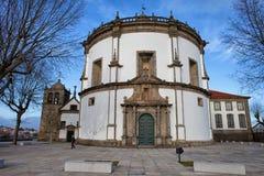 Serra修道院教会在葡萄牙做毛发 免版税图库摄影