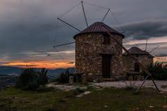 Serra da Atalhada风车, Penacova,葡萄牙 免版税库存图片