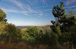 Serra da Estrela. Landscape of Serra da Estrela Star Mountain Range that is the highest mountain range in Continental Portugal Stock Images