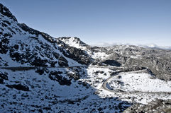 Serra da Estrela. A mountain covered in snow in Serra da Estrela - Portugal Stock Photography