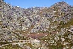Serra da Estrela. Mountain view in Portugal Royalty Free Stock Photos