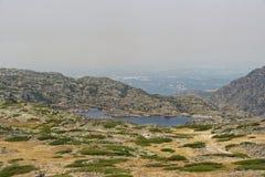 Serra da Estrela. A view from the highest point of Serra da Estrela, Portugal Stock Photos
