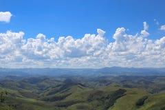 Serra da Mantiqueira et x28 ; gamme du mountains& x29 ; dans la ville de Conservatoria et de x28 ; € «Brazil& x29 de Rio de Jan images stock