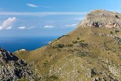 Serra de Tramuntana - bergen op Mallorca stock afbeelding