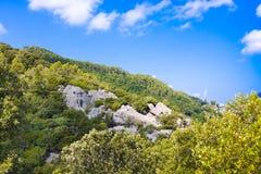 Serra de Tramuntana - chaîne de montagnes sur Majorque, Îles Baléares, Espagne Photographie stock