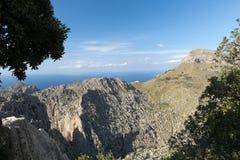 Serra de Tramuntana - montagnes sur Majorque Photographie stock