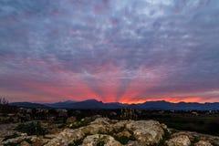 The Serra de Tramuntana mountain range Royalty Free Stock Image