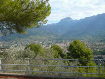 Serra de Tramuntana mountain in Soller. Serra de Tramuntana mountains in Soller, Spain Stock Photos