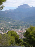 Serra de Tramuntana mountain in Soller. Serra de Tramuntana mountains in Soller, Spain Stock Image