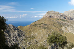 Serra de Tramuntana - mountains on Mallorca Stock Photos