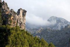 Serra de Tramuntana. Mountains on Mallorca, Spain Royalty Free Stock Photography