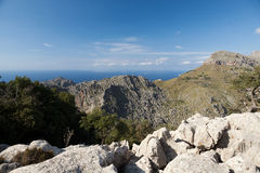 Serra de Tramuntana - mountains on Mallorca. Spain Stock Photography