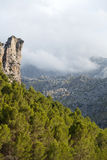 Serra de Tramuntana - mountains on Mallorca. Spain Stock Images